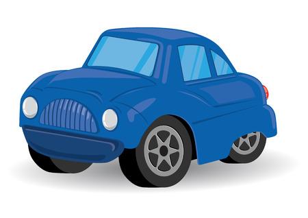 Utilidad Deportes Azul Vehículo de dibujos animados - ilustración vectorial Vectores