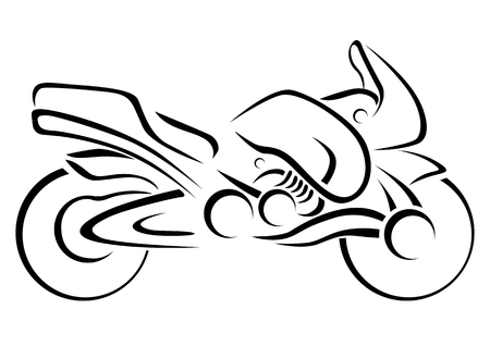 Stylised Motorcycle Vector Illustration Vector