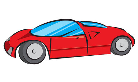 Red Modern Car Vector Illustration Vector