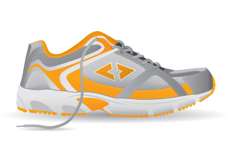 Stylish Sneaker Sports Shoe Vector Illustration Vector