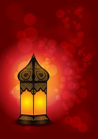 Beautiful Islamic Lamp for Eid / Ramadan Celebrations - Vector Illustration