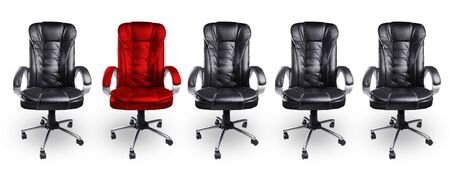 Office Chairs In Black And Red, Stand Out Concept Photo