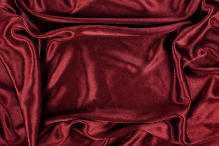 Maroon Satin Silk Velvet Cloth Fabric Background Stock Photo