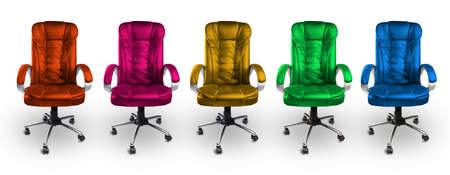 red pink: Colorful Office Chairs - Red, Pink, Yellow, Green and Blue