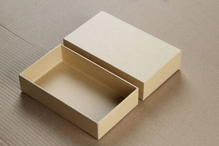 corrugated box: Open Blank Cardboard Box for Mockup