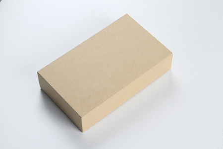 Recycled Box for Mockup on White Background