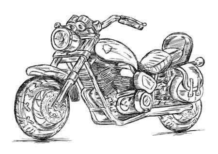 motorbike: Detailed Bike Vector EPS Illustration