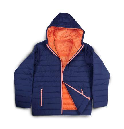 jacket: Ropa de invierno de la moda - la chaqueta ocasional aislado en el fondo blanco