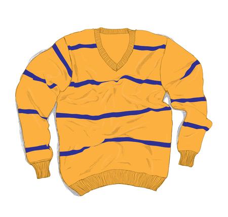 sueter: Ropa de invierno de la moda - ocasional del suéter hecho a mano Ilustración vectorial