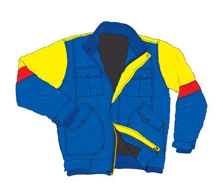 jacket: Ropa de invierno de la moda - Casual chaqueta ilustración vectorial Vectores