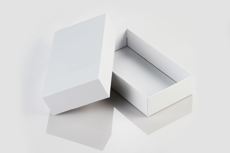 Blank White Card Board Box for Mockup Standard-Bild