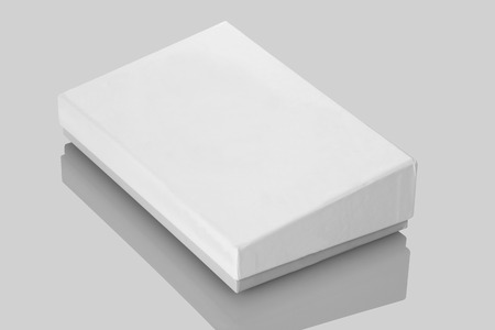 product box: White Board Product Packaging Box for Mockups Stock Photo
