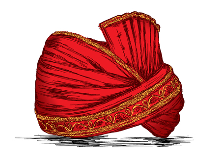 Indian Traditional Headgear Pagdi Vector Illustration