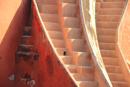 building exteriors: Abstract stairs in Jantar Mantar, New Delhi, India