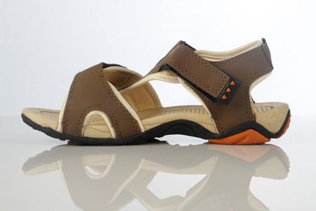 pu foam: Mens Sandal Footwear on White Background