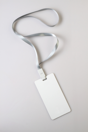 Blank White Lanyard Tag Badge Mockup
