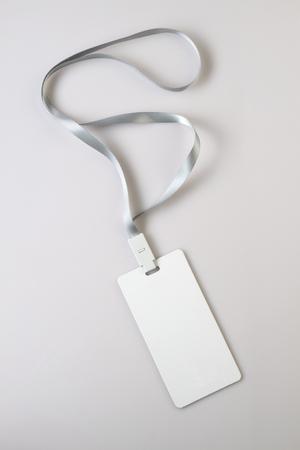 Blank White Lanyard Tag Badge Mockup