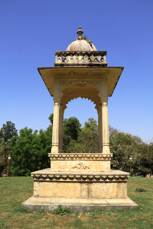 Historical Architecture Arch in Gulab Bagh, Udaipur, Rajasthan, India