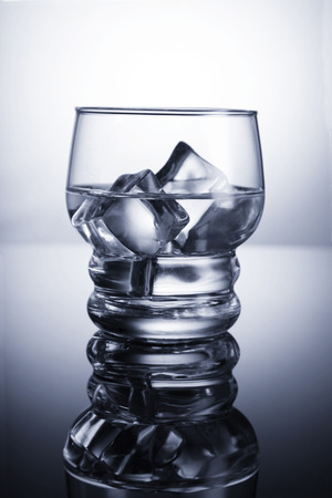 Chilled glass of water with ice cubes Standard-Bild - 119903520