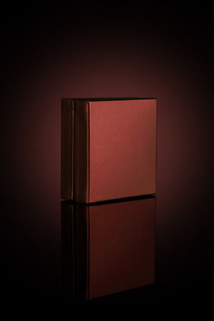Brown Box for Mockups Isolated on Dark Background Imagens