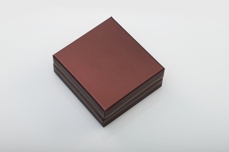 Blank Brown Box for Mockups on White Background