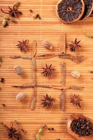 Fun with Food / Spices - Tic Tac Toe Idea Concept