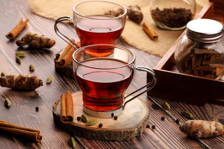 Tea with Cinnamon, Cardamom, Turmeric and Black Pepper