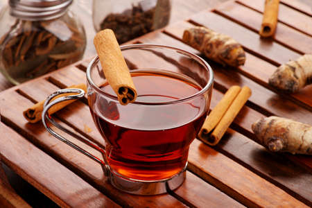 Healthy Detox Tea with Cinnamon and Turmeric for Immunity Standard-Bild