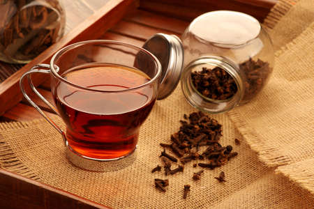 Healthy Green Tea with Ingredients - Cloves