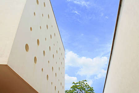 Perforation in Building Facade in Auroville