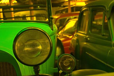 Headlamp of a vintage car