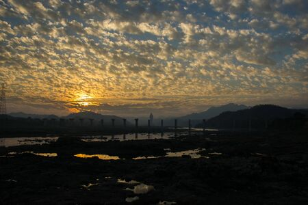 Photograph of sunrise clicked in Gujarat state of India