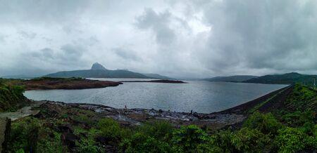 Panorama of Pawna lake situated in Maharashtra, India