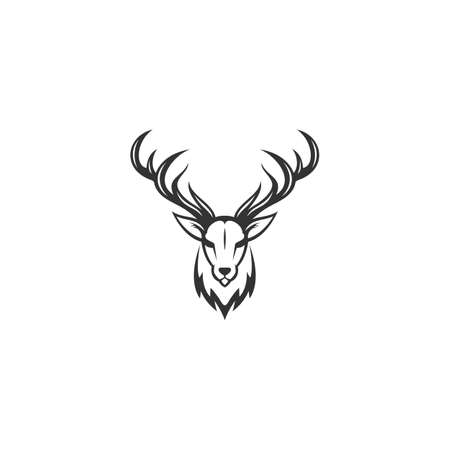 simple deer head logo for your company