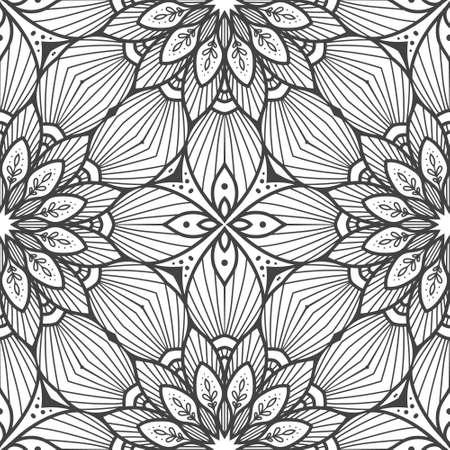 Seamless ethnic and tribal pattern Vektorové ilustrace