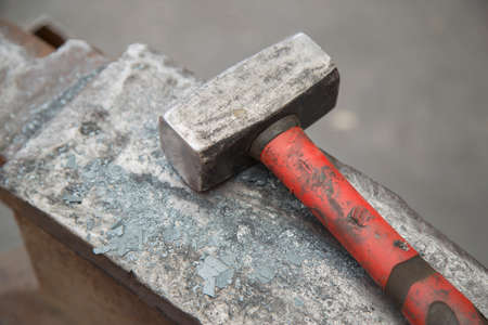 malleable: hammer and anvil used by a blacksmith