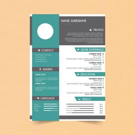 Modern Curriculum vitae CV design