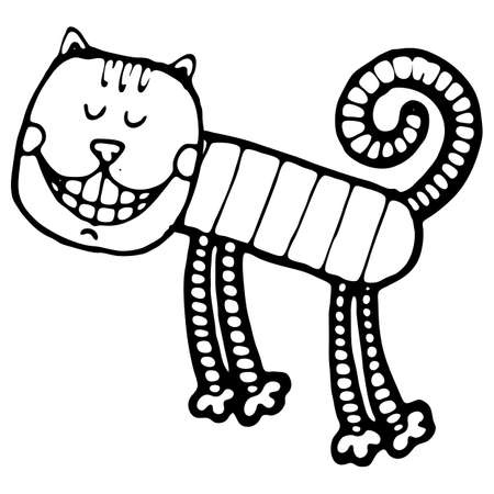 cheshire cat: Vector illustration with cheshire cat for tale Illustration