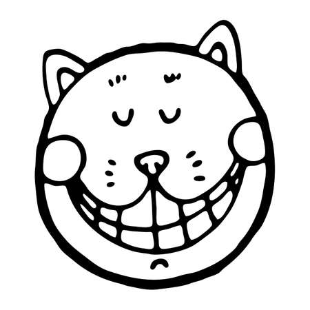 vector illustration with cheshire cat - Cheshire Cat Smile Coloring Pages
