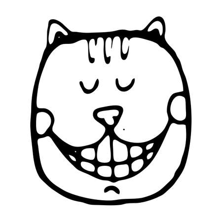 cheshire cat: Vector illustration with cheshire cat