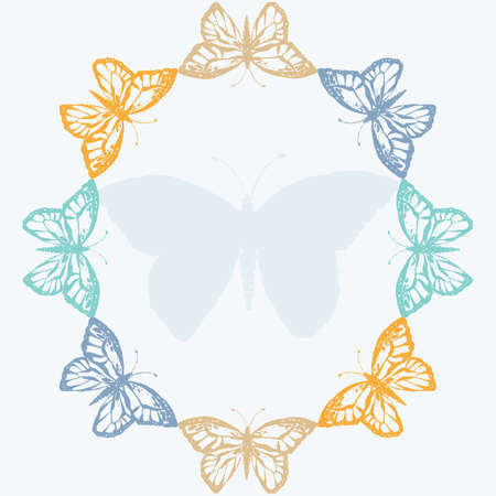 Vector illustration with butterfly Illustration
