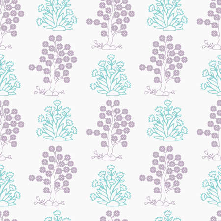 ornamental design: Vintage Vector hand-drawn seamless pattern with ethnic east floral ornament. Flowers. Abstract Background.