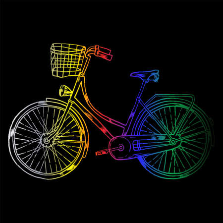 Bicycle with Cart Stock Photo