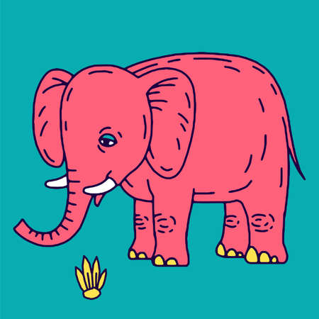 Cute elephant cartoon sitting