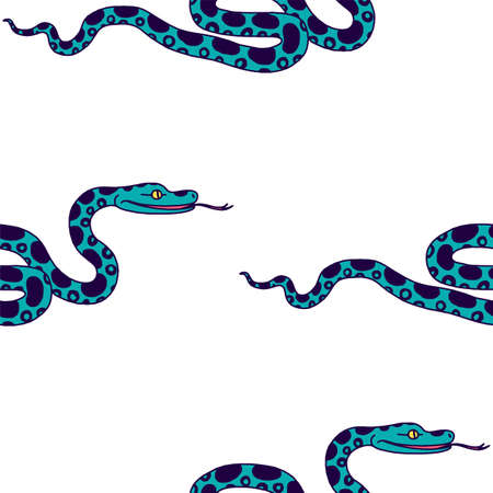 ophidian: Vector illustration of tropical snake