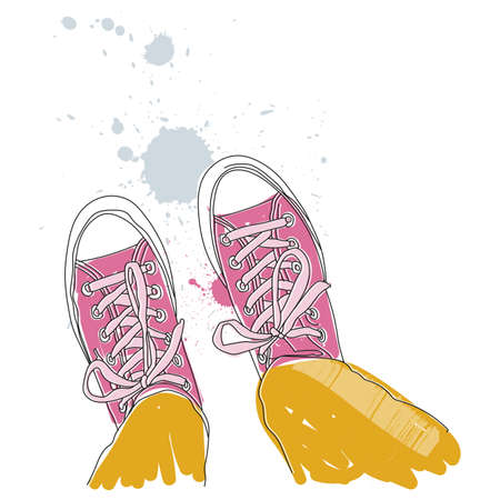 Vector - Pair of sneakers Illustration