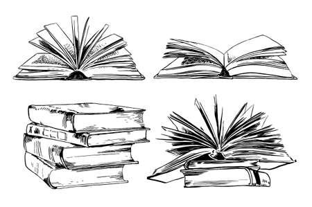 Boeken en foto's Albums Stock Illustratie