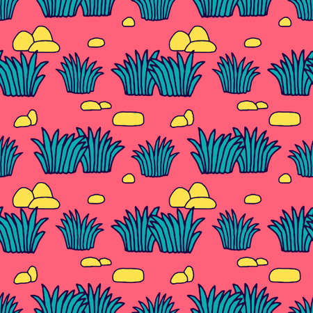 Seamless Tropical Jungle Palm Leaves Pattern. Doodle Exotic Flower. Vector Design Illustration.