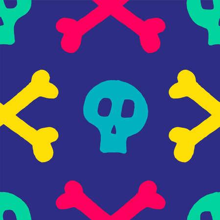 skull with cross-bones. Illustration