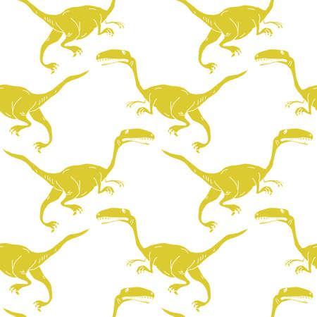 vector set silhouettes of dinosaur,animal illustration Illustration
